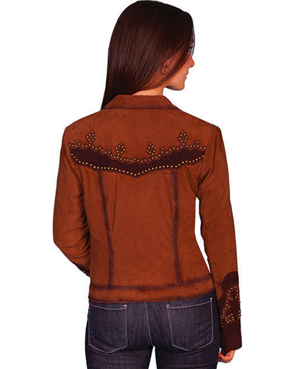 Scully Women's Studded Suede Jacket, Brown, hi-res