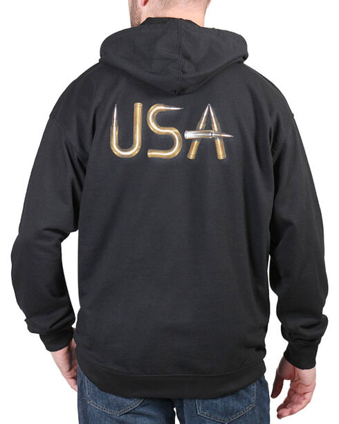 Cody James® Men's USA Bullets Hoodie, Black, hi-res