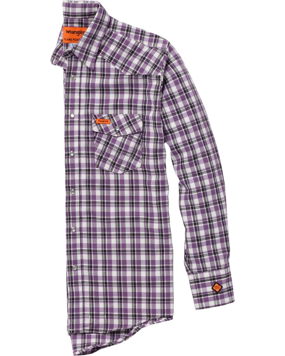 Wrangler Men's Purple FR Lightweight Work Shirt , Purple, hi-res
