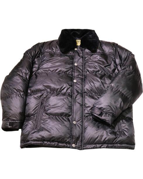 Hooey Men's Detachable Pile Collar Puffer Jacket, Black, hi-res