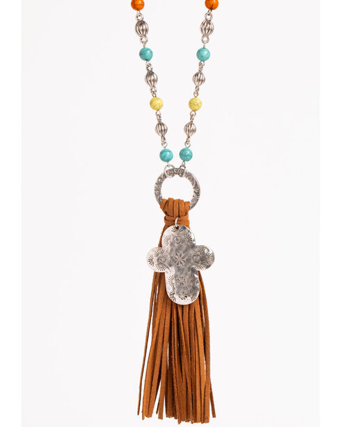 Shyanne Women's Fiesta Tassel Necklace, Multi, hi-res