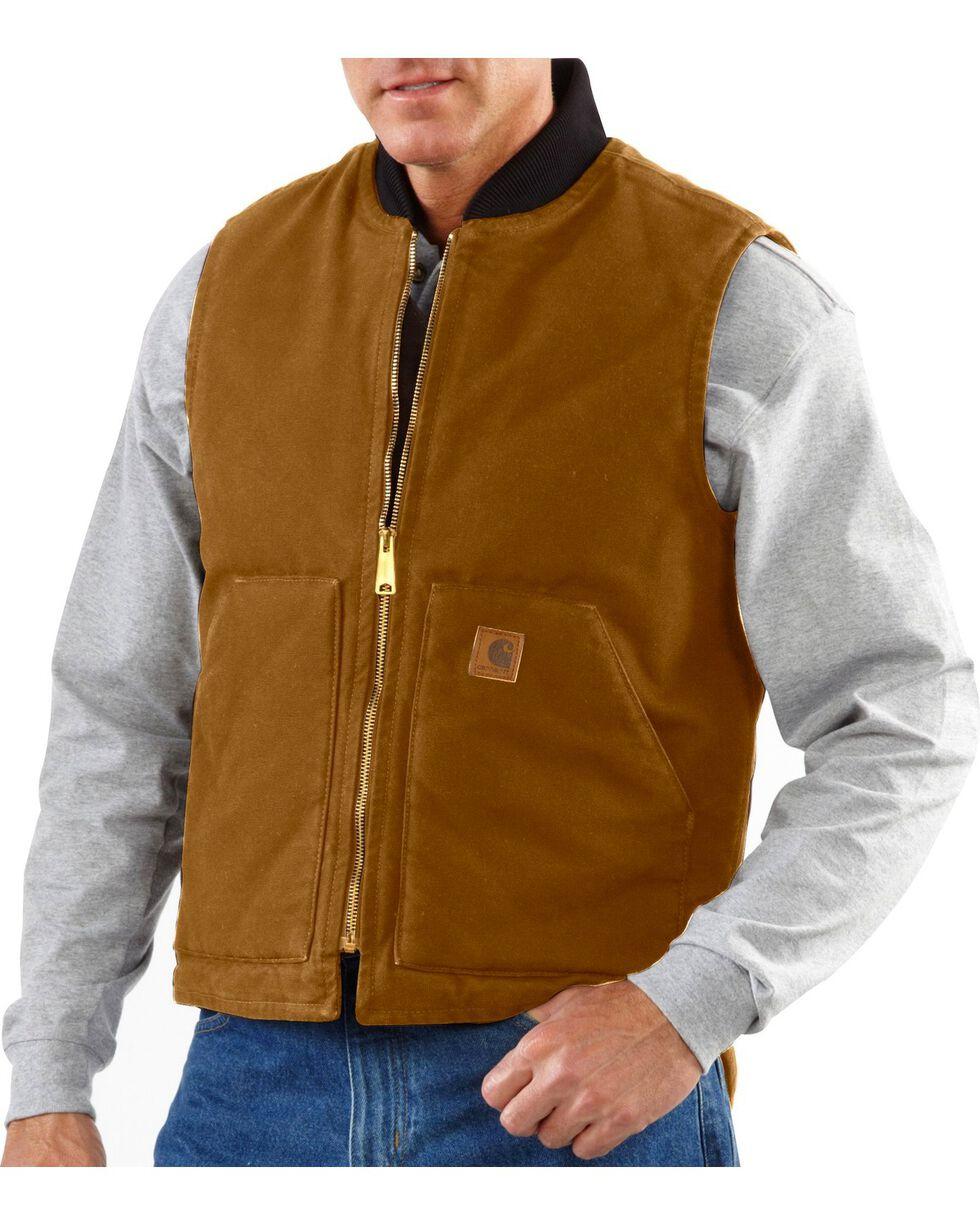 Carhartt Men's Sandstone Arctic Quilt Lined Vest, Brown, hi-res