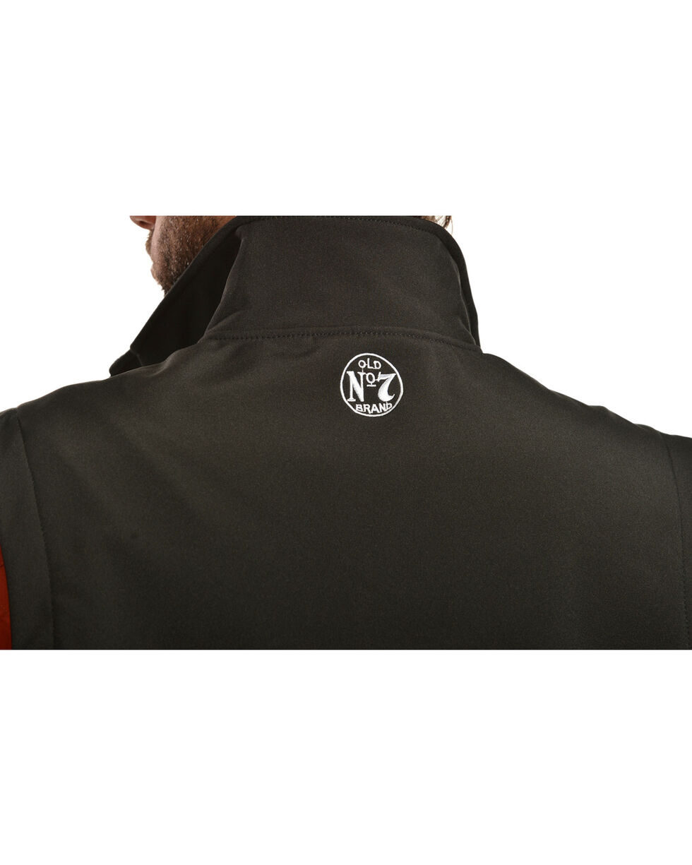 Jack Daniel's Men's Old No. 7 Softshell Vest, Black, hi-res