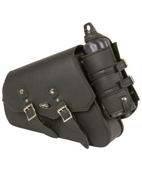 Milwaukee Leather Left Side Bottle & Gun Holder Swing Arm Bag, Black, hi-res
