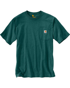 Carhartt Men's Workwear Pocket T-Shirt, Hunter Green, hi-res
