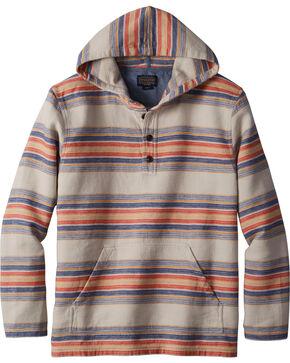 Pendleton Men's Serape Stripe Popover Hoodie , Silver, hi-res