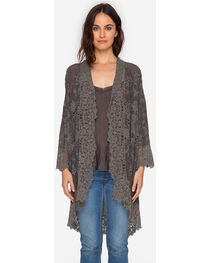 Johnny Was Women's Grey Christy Cardigan Jacket, , hi-res