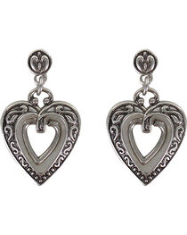 Shyanne® Women's Engraved Heart Earrings, , hi-res