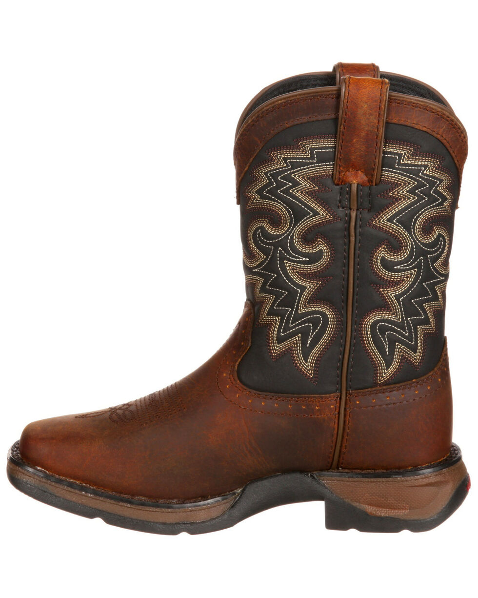 Durango Boys' Little Kid Western Boots - Square Toe, Brown, hi-res