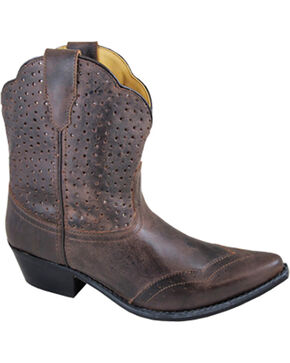 Smoky Mountain Women's Fern Short Boots - Snip Toe , Brown, hi-res