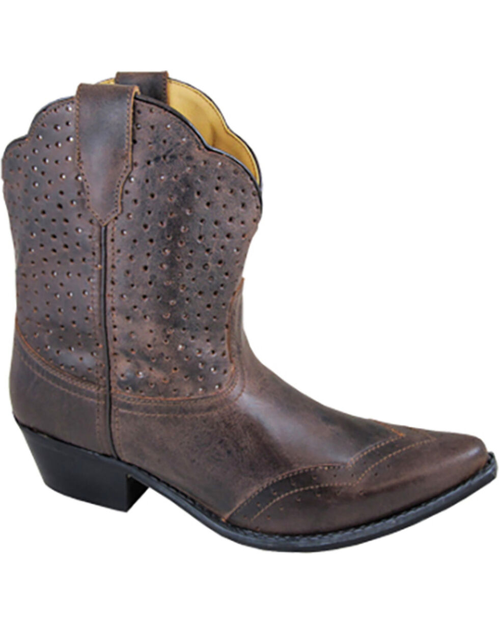 Smoky Mountain Women's Fern Short Boots - Snip Toe , Brown, hi-res