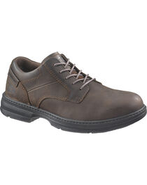 CAT Men's Steel Toe Oversee Oxford Work Shoes, , hi-res