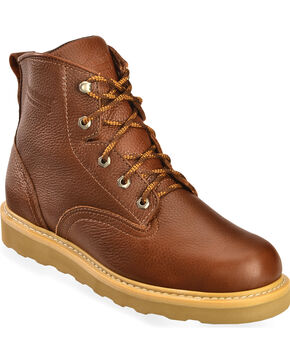 "American Worker Men's 6"" Lace-Up Work Boots - Soft Toe, Russett, hi-res"