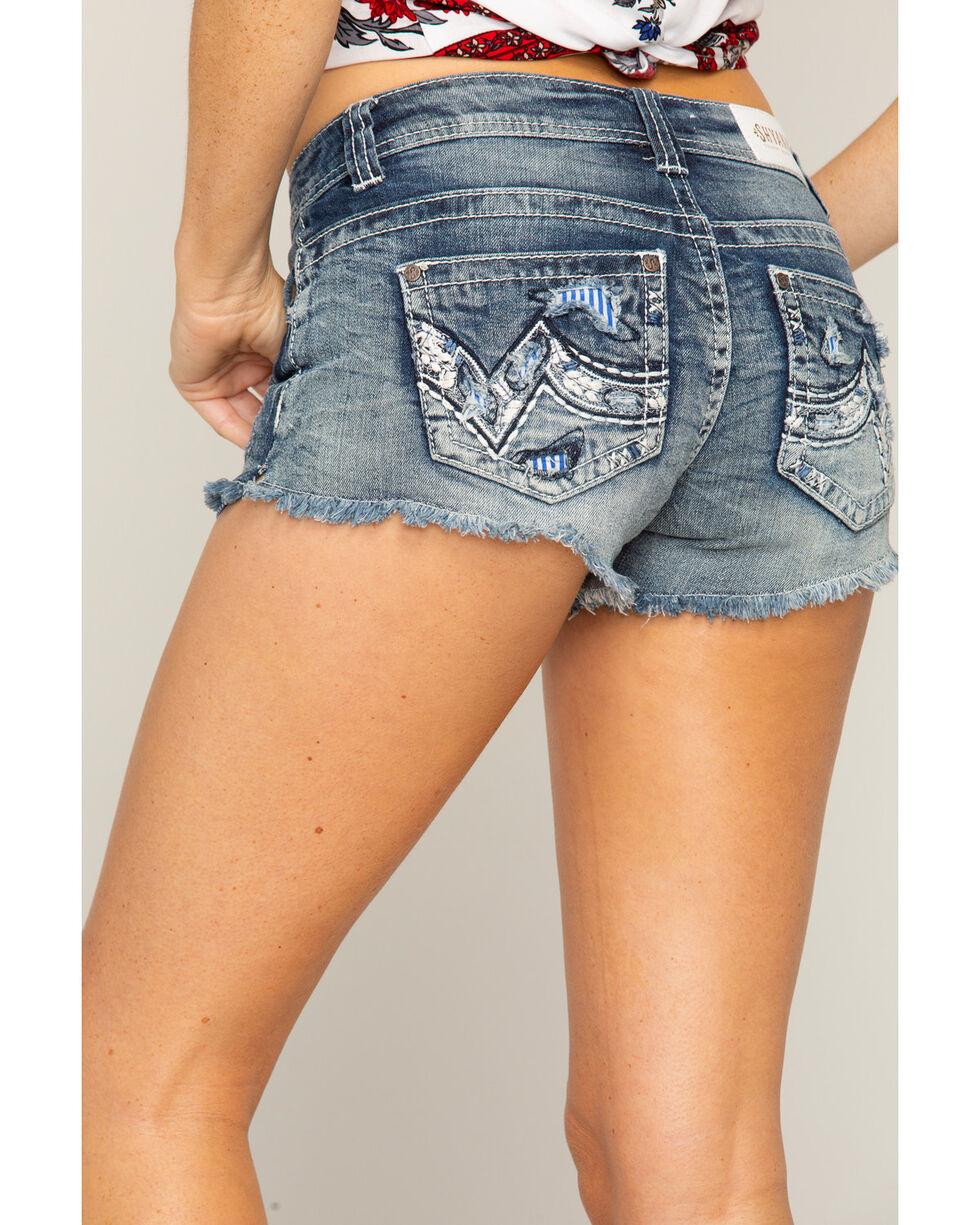 Shyanne Women's Distressed Contrast Pocket Shorts, , hi-res
