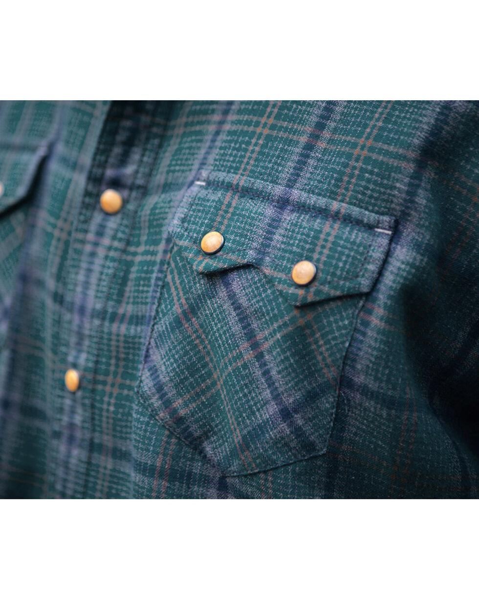 Ryan Michael Men's Vintage Jaspe Plaid Shirt, Blue, hi-res