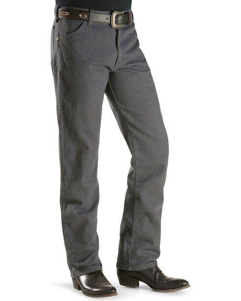Wrangler Jeans - 13MWZ Original Fit Prewashed Colors - Tall, Charcoal Grey, hi-res