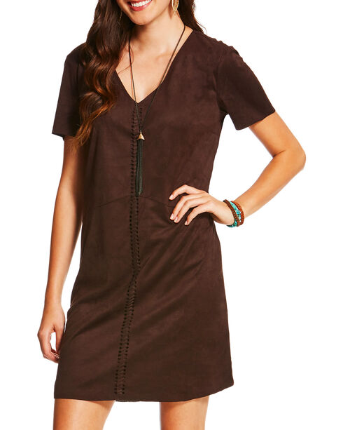 Ariat Women's Brown Afton Dress , Brown, hi-res