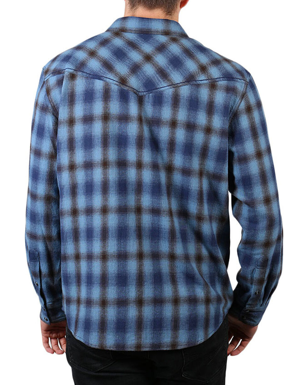 Cody James® Men's Grizzly Plaid Long Sleeve Shirt , Blue, hi-res