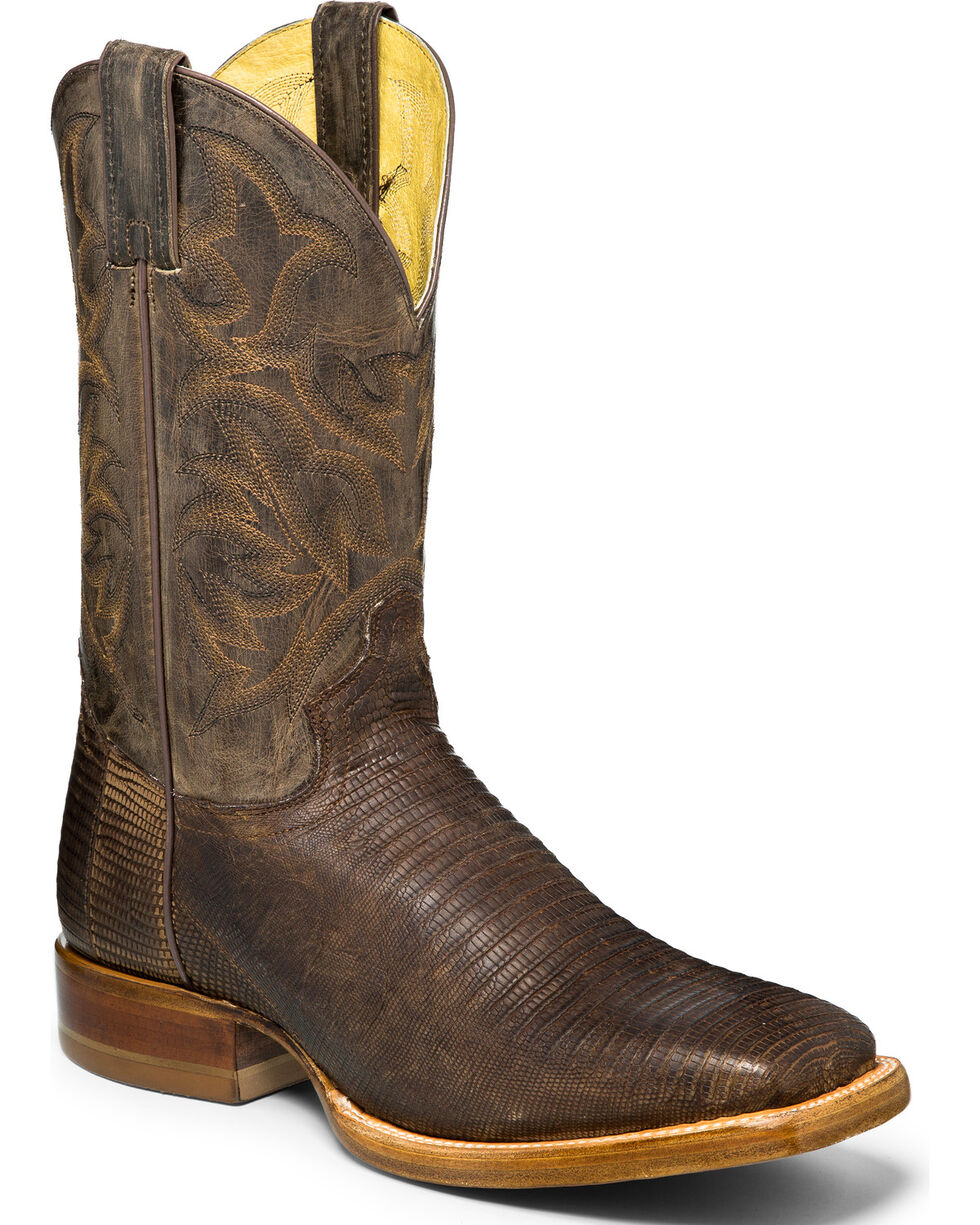 Justin Men's Roadhouse Exotic Boots, Brown, hi-res