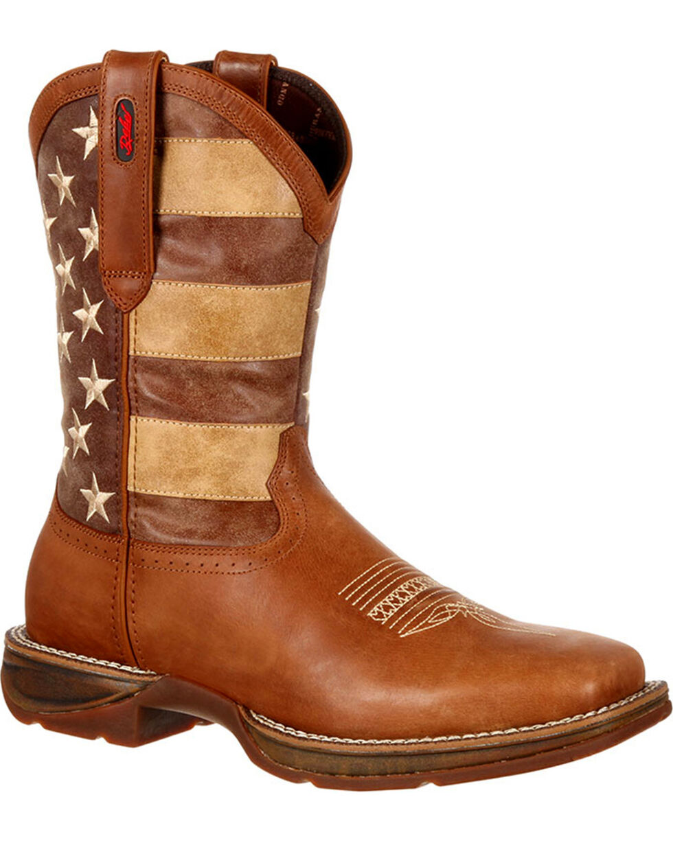 Durango Men's Faded Union Flag Western Boots, Brown, hi-res