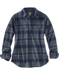 Carhartt Women's Hamilton Plaid Rugged Flex Long Sleeve Shirt, , hi-res