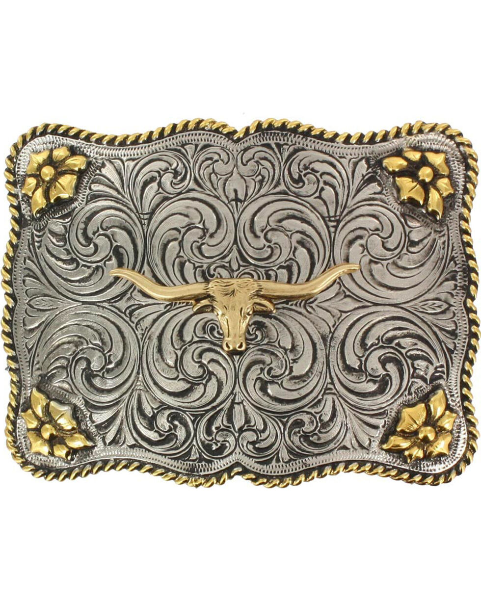 Cody James® Men's Interchangeable Belt Buckle, Silver, hi-res