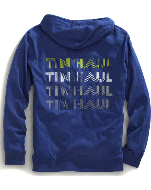 Tin Haul Men's Retro Screen Print Zip-Up Hoodie, Blue, hi-res