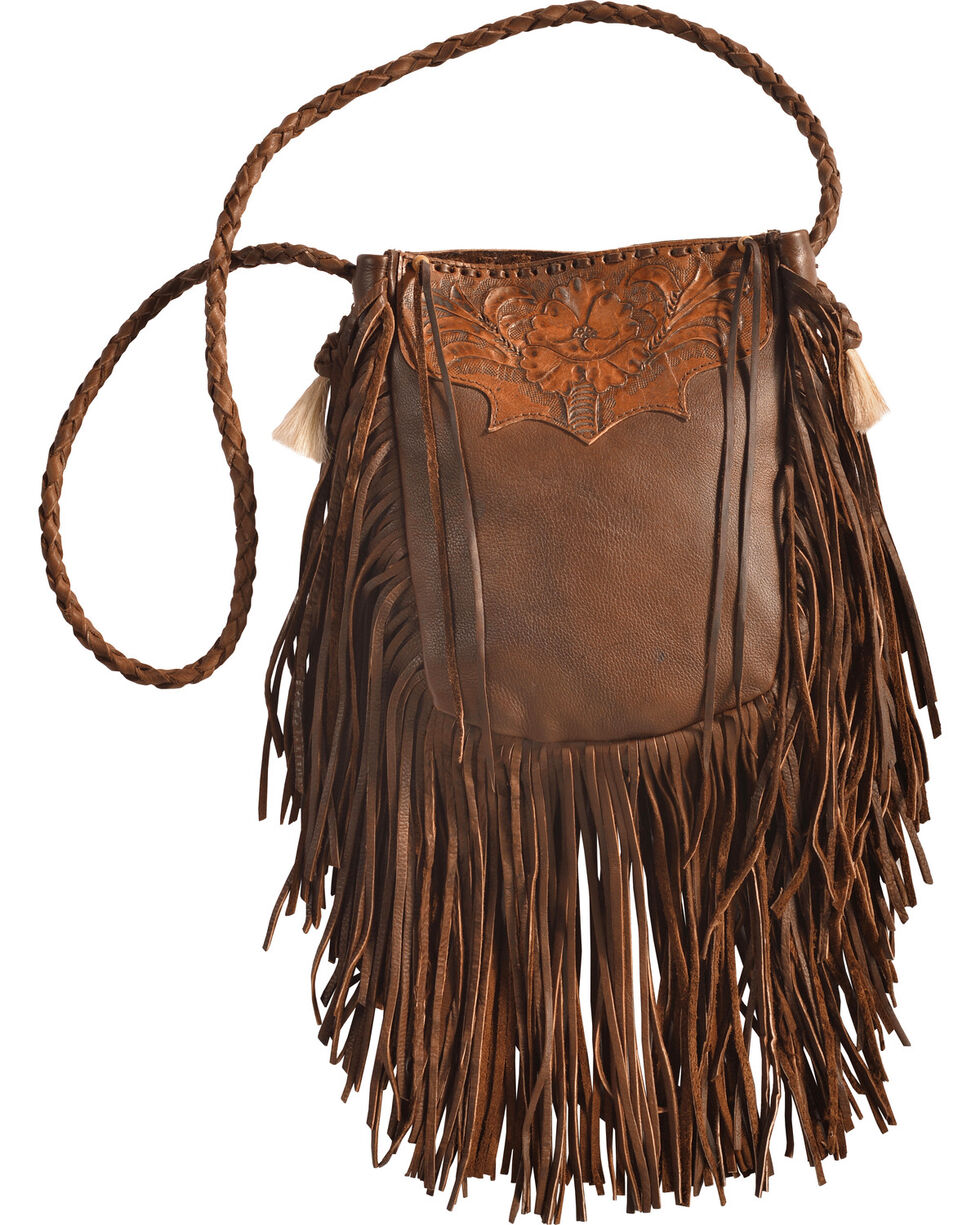 Kobler Leather Tan Hand-Tooled Pouch Bag , Tan, hi-res