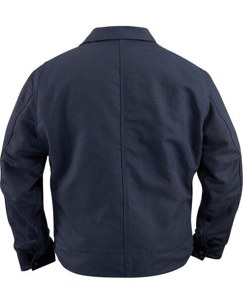 Carhartt Men's Flame-Resistant Canvas Dearborn Jacket, Navy, hi-res