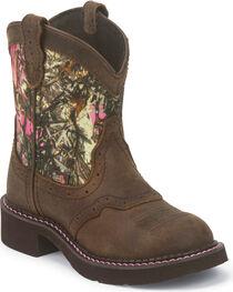 Justin Girls' Aged Bark Western Boots, , hi-res