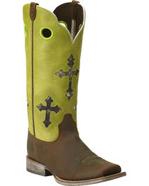 Ariat Youth Ranchero Cross Cowboy Boots - Square Toe, , hi-res