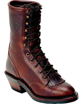 "Boulet Men's Packer 11"" Western Boots, Brown, hi-res"