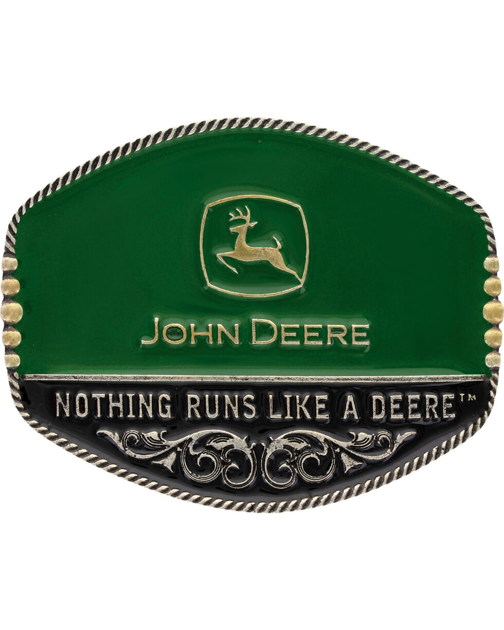 Montana Silversmiths John Deere Oval Painted Belt Buckle, Multi, hi-res
