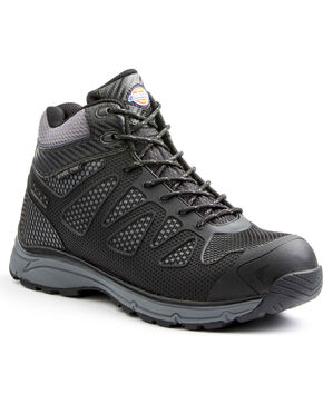 Dickies Men's Fury Mid Work Shoes - Steel Toe, Black, hi-res
