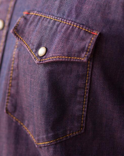 Ryan Michael Men's Indigo Pigment Dye Denim Western Shirt, Indigo, hi-res