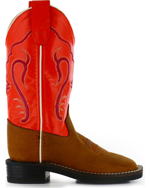 Cody James® Children's Broad Square Toe Western Boots, Cognac, hi-res