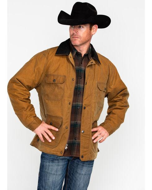 Outback Trading Men's Gidley Oilskin Jacket, Tan, hi-res
