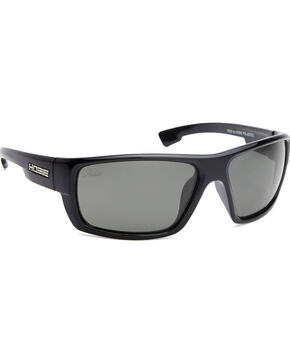 Hobie Men's Grey and Shiny Black Mojo Polarized Sunglasses , Black, hi-res