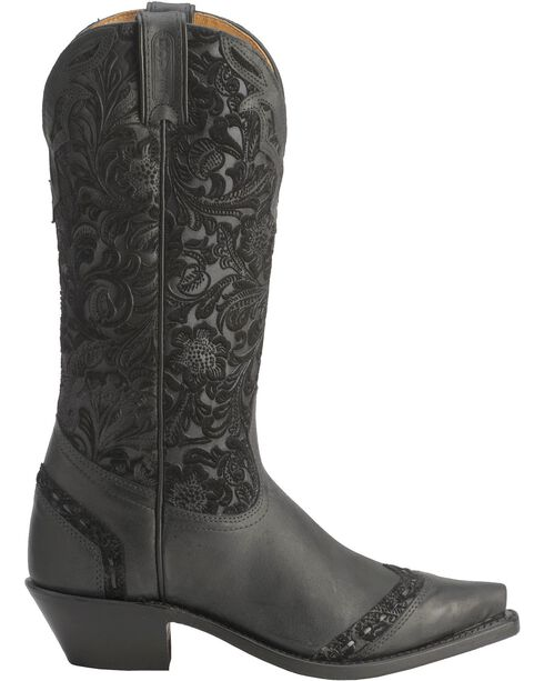 Boulet Tooled Midnight Cowgirl Boots - Snip Toe, , hi-res
