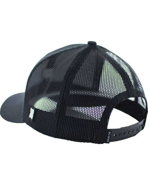 BEX Men's Flyk Embroidered Logo Mesh Adjustable Cap, Black, hi-res