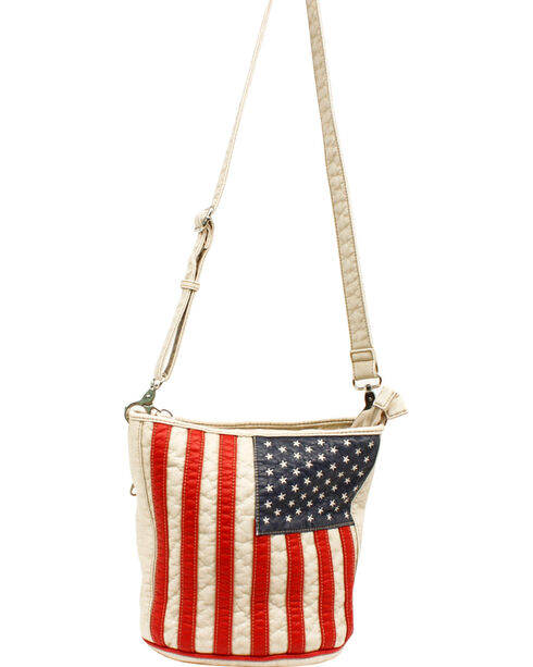 Blazin' Roxx Women's Americana Conceal and Carry Bucket Bag, Patriotic, hi-res