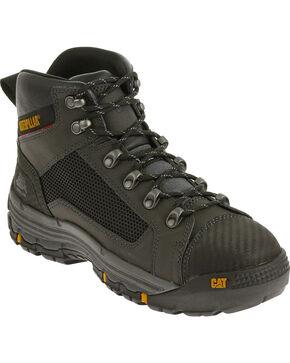 Caterpillar Men's Black Convex Mid Work Boots - Steel Toe , Black, hi-res