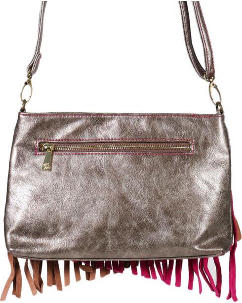Trenditions Women's Fringe Trimmed Crossbody Bag, Brown, hi-res