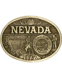 Montana Silversmiths Nevada State Belt Buckle, , hi-res