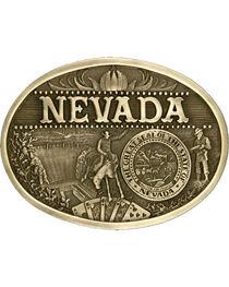 Montana Silversmiths Nevada State Belt Buckle, Gold, hi-res