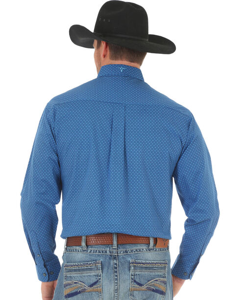 Wrangler 20X Men's Blue Advanced Comfort Competition Shirt - Big & Tall, Blue, hi-res