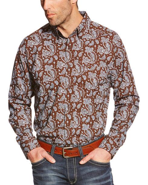 Ariat Men's Tedrick Long Sleeve Shirt - Tall, White, hi-res