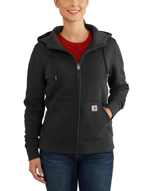 Carhartt Women's Clarksburg Full-Zip Hoodie , Black, hi-res