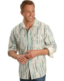 Scully Paisley Stripe Western Shirt, , hi-res