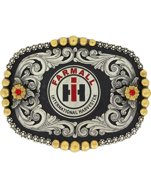 Montanan Silversmiths Silver Case IH Fancy Dress Belt Buckle , Silver, hi-res